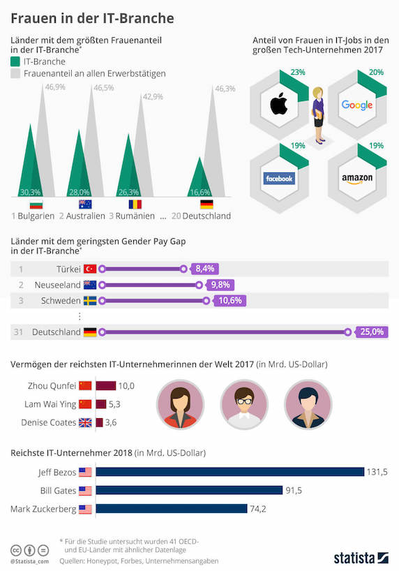 Infografik: Frauen in der IT Branche
